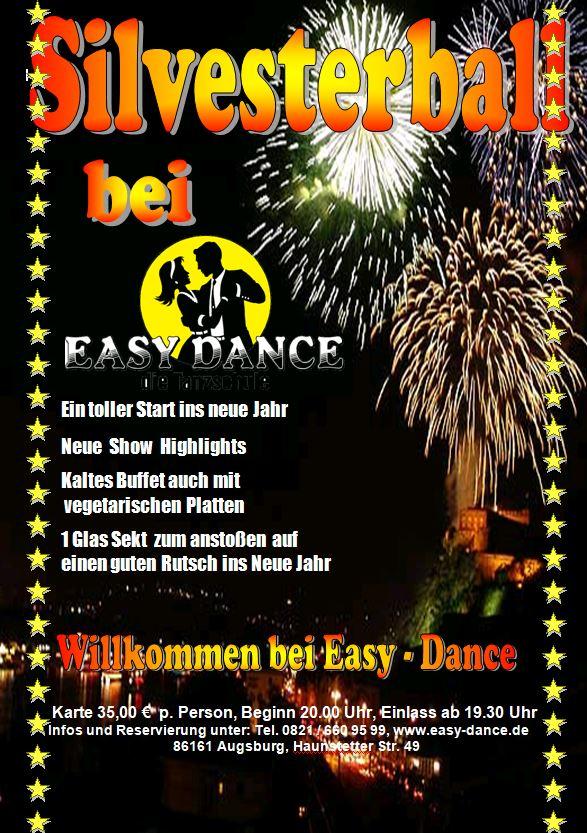 "Silvester Ball 2019, in der Tanzschule ""Easy Dance"" Augsburg - Tanzpartner suchen"